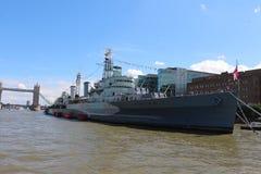 HMS Belfast, Londyn, Anglia Zdjęcie Royalty Free