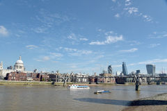 HMS Belfast moored on River Thames Stock Photography
