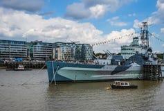 HMS Belfast okręt wojenny Fotografia Royalty Free