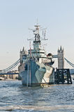 HMS Belfast warship at London, England Stock Image