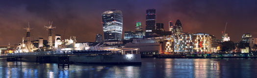 HMS Belfast warship Royalty Free Stock Images
