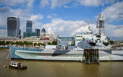 The HMS Belfast warship Royalty Free Stock Images