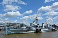 HMS Belfast - Zjednoczone Królestwo (C35 Londyn, Anglia) Obrazy Royalty Free