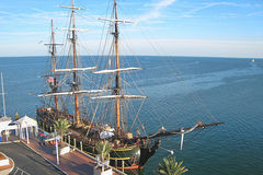 HMS Bounty. The HMS Bounty docked at the St. Petersburg Pier in Tampa Bay, Florida. On October 29, 2012, while carrying 16 crew members, the ship sank off the stock image