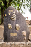 HMS Bounty Monument, Tahiti Stock Image