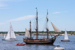 HMS Bounty in Newport Parade of Sail. Royalty Free Stock Image