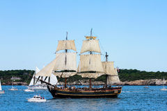 HMS Bounty in Newport Parade of Sail. Royalty Free Stock Photography