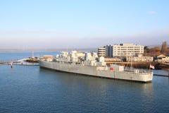 HMS Bristol no Gosport do porto de Portsmouth imagens de stock