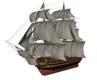HMS-3D Overwinningsschip - geef terug royalty-vrije illustratie