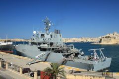 HMS ECHO. A multi-role hydrographic survey ship - HMS ECHO. Valetta - Malta Royalty Free Stock Image