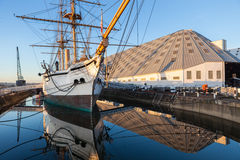The HMS Gannet. A Victorian war ship, is now on display at The Historic Dockyard Chatham stock photos