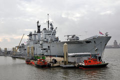 HMS Illustrious Stock Photos