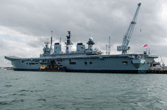 HMS Illustrious, Portsmouth Fotografia Royalty Free