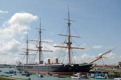Hms-krigare, Portsmouth Royaltyfri Fotografi