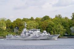 HMS Kullen het Zweedse schip van mijntegenmaatregelen Royalty-vrije Stock Afbeelding