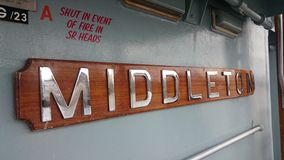 HMS Middleton Fotos de archivo libres de regalías