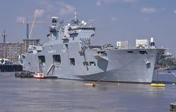 HMS-Oceaan bij 2012 Olympics Stock Fotografie