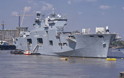 HMS Ocean at the 2012 Olympics Stock Photography