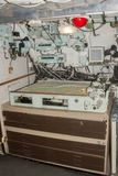 HMS Ocelot Chart table. HMS Ocelot S17 was an Oberon-class diesel-electric submarine,built in Chatham Kent England in the early 1960`s stock image