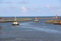 HMS-Ozean, der in Sunderland, am 1. Mai 2015 ankommt Stockfoto