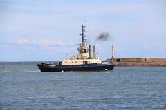 HMS-Ozean, der in Sunderland, am 1. Mai 2015 ankommt Lizenzfreies Stockbild