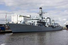 HMS Portland em Leith, Edimburgo, Scotland Foto de Stock