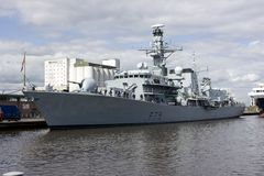 HMS Portland in Leith, Edinburgh, Schotland Stock Foto