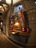 HMS Royal Oak memorial in St. Magnus Cathedral. Memorial to the 833 men of HMS Royal Oak lost when she sank in Scapa Flow in October 1939, by the German Stock Photography