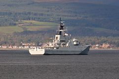 HMS Severn, Fishery Protection Squadron. Stock Photos
