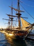 Hms-överraskning San Diego Maritime Museum Arkivfoto