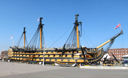 Hms Victory. Ship Hms Victory at Portsmouth Dockland Museum, UK stock images