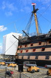 HMS Victory Being Repaired Royalty Free Stock Photos