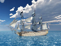 HMS Victory. Computer generated 3D illustration with the ancient British flagship HMS Victory Royalty Free Stock Photography