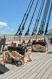 Cannons HMS Victory Portsmouth England Stock Photo