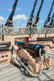 HMS Victory Cannon, Portsmouth, England Royalty Free Stock Image
