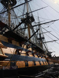 HMS Victory at Portsmouth harbour dock Royalty Free Stock Photo