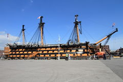 HMS Victory warship in Portsmouth, UK Stock Photo