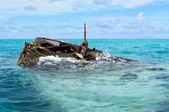 HMS Vixen Shipwreck, Somerset Village, Bermuda stock images