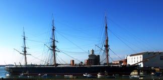 HMS Warrior. At HM Naval Base Portsmouth stock images
