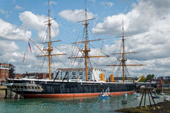 HMS Warrior Museum Ship Portsmouth UK stock image