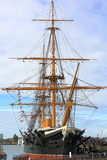 HMS Warrior. The HMS Warrior is now a museum ship sitting in Portsmouth Historical Dockyard royalty free stock images
