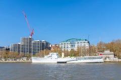 HMS Wellington docked in central London. The HMS Wellington docked on the river Thames in central London, UK stock photos