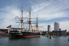 HMS wojownik warship Budujący 1859 obrazy stock