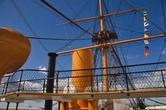 HMS wojownika Portsmouth doki obraz stock