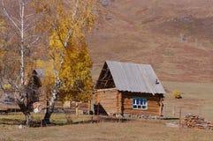 Hmu Tuvans dwellings. Antumer beauty Royalty Free Stock Photography