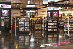 HMV Record Store. With various types of record and detector gate. Photo was taken on 09 January 2013 Stock Photography