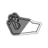 Hnad holding something. Icon  illustration graphic design Stock Photography