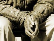 Hände der Zeit Stockfoto