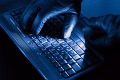 Hände des Hackers Lizenzfreie Stockfotografie