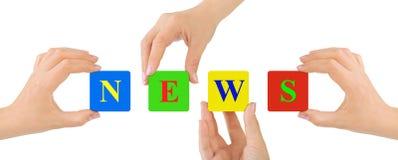 Hände und Nachrichten Lizenzfreies Stockfoto